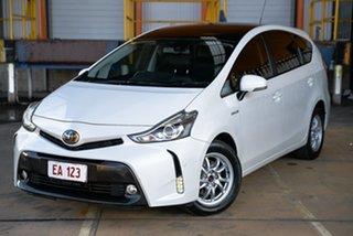 2017 Toyota Prius v ZVW40R I-Tech White 1 Speed Constant Variable Wagon Hybrid.