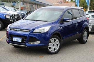 2014 Ford Kuga TF MY15 Ambiente 2WD Blue 6 Speed Manual Wagon.