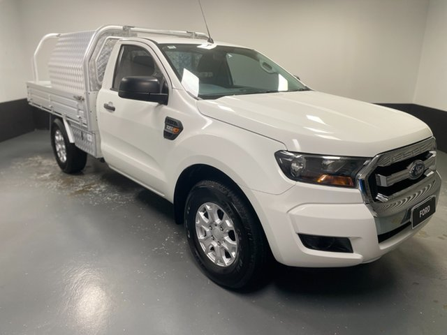 Used Ford Ranger PX MkII XL Cardiff, 2016 Ford Ranger PX MkII XL Cool White 6 Speed Manual Cab Chassis