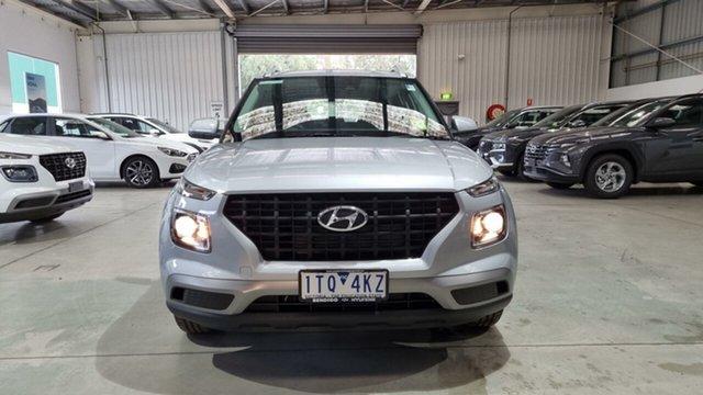Demo Hyundai Venue QX.V3 MY21 Epsom, 2021 Hyundai Venue QX.V3 MY21 Typhoon Silver 6 Speed Automatic Wagon