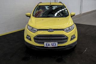 2014 Ford Ecosport BK Titanium PwrShift Yellow 6 Speed Sports Automatic Dual Clutch Wagon.