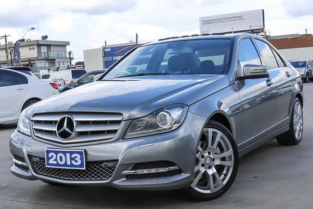 Used Mercedes-Benz C-Class W204 MY13 C250 7G-Tronic + Avantgarde Coburg North, 2013 Mercedes-Benz C-Class W204 MY13 C250 7G-Tronic + Avantgarde Silver 7 Speed Sports Automatic