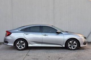 2018 Honda Civic 10th Gen MY18 VTi Silver 1 Speed Constant Variable Sedan.