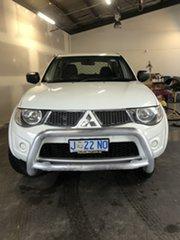 2013 Mitsubishi Triton MN MY13 GL-R Double Cab White 5 Speed Manual Utility.