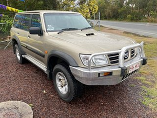 2002 Nissan Patrol GU III ST (4x4) Gold 4 Speed Automatic Wagon.