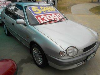 1998 Toyota Corolla AE112R Conquest Silver 5 Speed Manual Liftback.