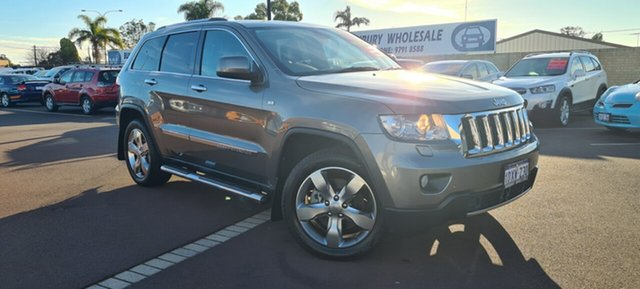 Used Jeep Grand Cherokee WK MY2012 Overland East Bunbury, 2012 Jeep Grand Cherokee WK MY2012 Overland Grey 5 Speed Sports Automatic Wagon