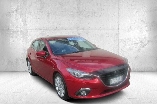 Used Mazda 3 BM5438 SP25 SKYACTIV-Drive Astina Bendigo, 2016 Mazda 3 BM5438 SP25 SKYACTIV-Drive Astina Red 6 Speed Sports Automatic Hatchback