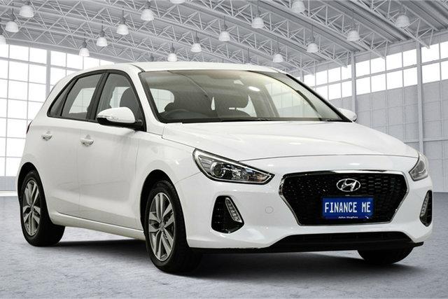 Used Hyundai i30 PD2 MY18 Active Victoria Park, 2018 Hyundai i30 PD2 MY18 Active Polar White 6 Speed Sports Automatic Hatchback