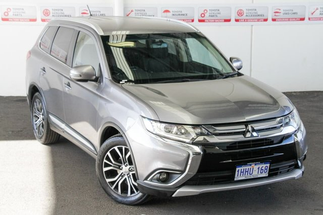 Pre-Owned Mitsubishi Outlander ZK MY16 LS (4x2) Myaree, 2015 Mitsubishi Outlander ZK MY16 LS (4x2) Grey Continuous Variable Wagon