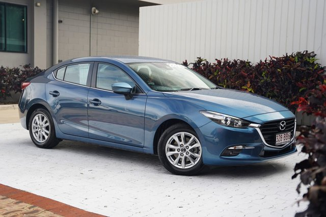 Used Mazda 3 BN5278 Maxx SKYACTIV-Drive Sport Cairns, 2018 Mazda 3 BN5278 Maxx SKYACTIV-Drive Sport Blue 6 Speed Sports Automatic Sedan