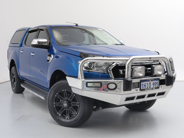 Used Ford Ranger PX MkII MY17 XLT 3.2 (4x4), 2017 Ford Ranger PX MkII MY17 XLT 3.2 (4x4) Blue 6 Speed Automatic Double Cab Pick Up