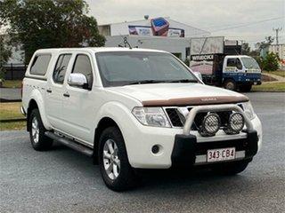 2010 Nissan Navara D40 ST-X White 6 Speed Manual Utility.