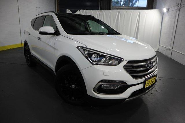 Used Hyundai Santa Fe DM5 MY18 Highlander Castle Hill, 2018 Hyundai Santa Fe DM5 MY18 Highlander White 6 Speed Sports Automatic Wagon