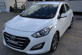 2016 Hyundai i30 GD4 Series II MY17 Active X White 6 Speed Sports Automatic Hatchback.