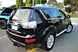 2008 Mitsubishi Outlander ZG MY08 VR-X Luxury Black 6 Speed Sports Automatic Wagon.
