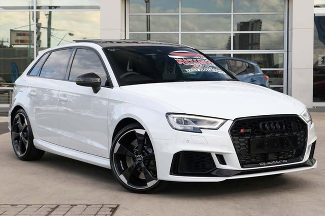 Used Audi RS 3 8V MY20 Carbon Edition Sportback S Tronic Quattro Liverpool, 2020 Audi RS 3 8V MY20 Carbon Edition Sportback S Tronic Quattro Glacier White 7 Speed