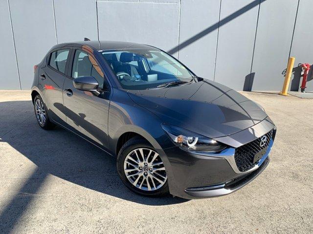 New Mazda 2 DJ2HAA G15 SKYACTIV-Drive Evolve Alexandria, 2021 Mazda 2 DJ2HAA G15 SKYACTIV-Drive Evolve Machine Grey 6 Speed Sports Automatic Hatchback