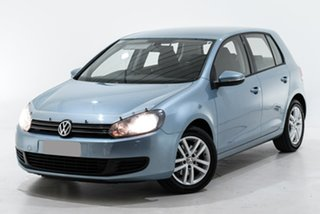 2009 Volkswagen Golf VI MY10 103TDI DSG Comfortline Blue 6 Speed Sports Automatic Dual Clutch.