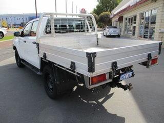 2018 Toyota Hilux GUN126R SR (4x4) White 6 Speed Automatic Dual Cab.