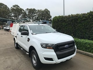 2017 Ford Ranger PX MkII XL Hi-Rider White 6 speed Automatic Cab Chassis.