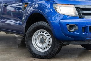 2013 Ford Ranger PX XL Aurora Blue 6 Speed Manual Cab Chassis.