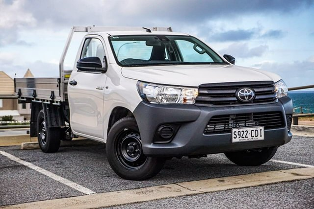 Used Toyota Hilux TGN121R Workmate 4x2 Christies Beach, 2019 Toyota Hilux TGN121R Workmate 4x2 White 6 Speed Sports Automatic Cab Chassis