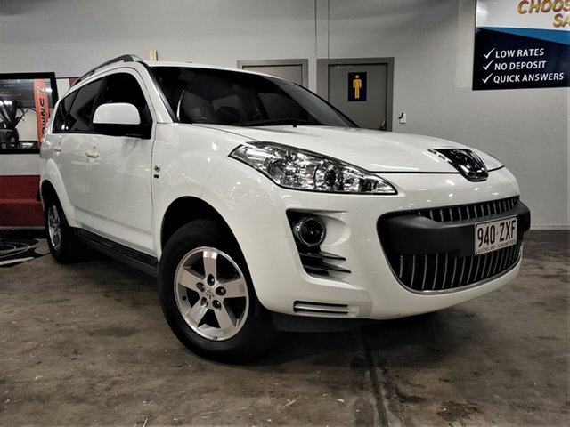 Used Peugeot 4007 ST DCS Auto HDi Ashmore, 2010 Peugeot 4007 ST DCS Auto HDi White 6 Speed Sports Automatic Dual Clutch Wagon