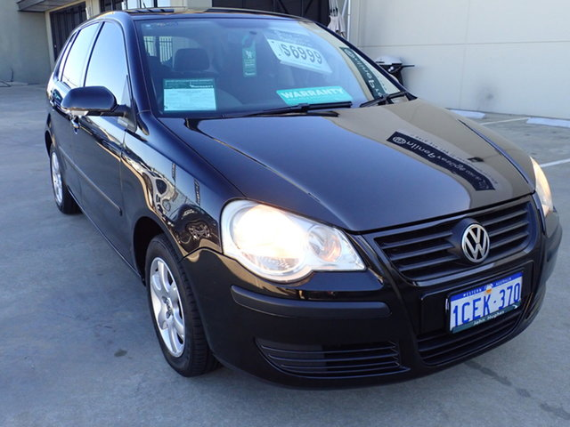 Used Volkswagen Polo 9N MY06 Upgrade Match Wangara, 2006 Volkswagen Polo 9N MY06 Upgrade Match Black Metallic 5 Speed Manual Hatchback