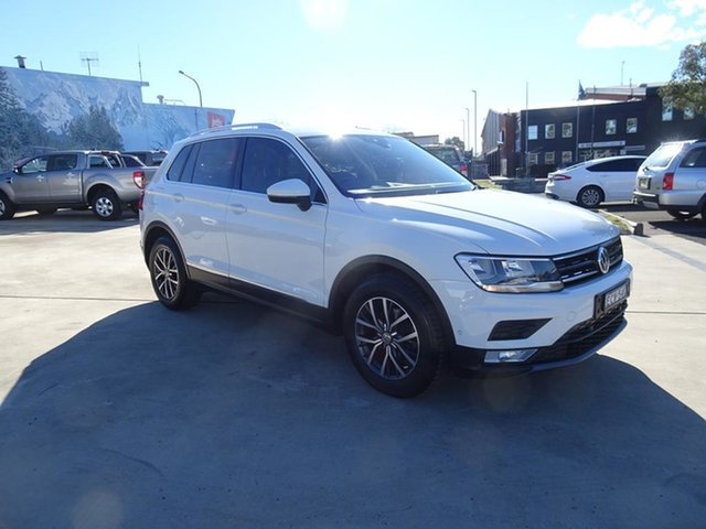 Used Volkswagen Tiguan 5N MY17 110TDI DSG 4MOTION Comfortline Nowra, 2017 Volkswagen Tiguan 5N MY17 110TDI DSG 4MOTION Comfortline Pure White 7 Speed Automatic Wagon