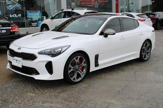 2018 Kia Stinger CK MY18 GT Fastback White 8 Speed Sports Automatic Sedan.