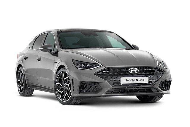 New Hyundai Sonata N Line Hamilton, 2021 Hyundai Sonata DN8.V1 N Line Hampton Grey 8 Speed Automatic Sedan