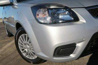 2010 Kia Rio JB MY10 S Silver 4 Speed Automatic Hatchback.
