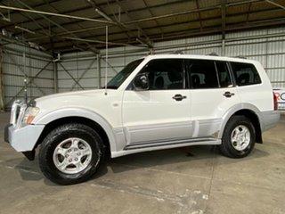 2003 Mitsubishi Pajero NP GLS White 5 Speed Sports Automatic Wagon.