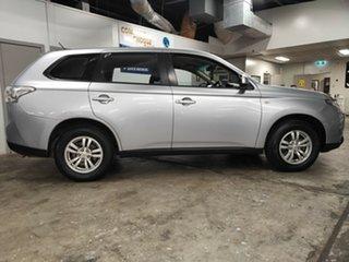 2012 Mitsubishi Outlander ZJ MY13 ES 4WD Metallic Silver 6 Speed Constant Variable Wagon.