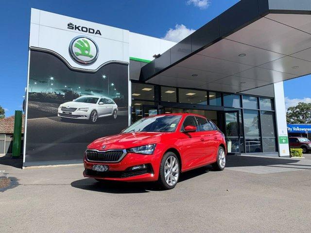 Demo Skoda Scala NW MY21 110TSI DSG Botany, 2020 Skoda Scala NW MY21 110TSI DSG Red 7 Speed Sports Automatic Dual Clutch Hatchback