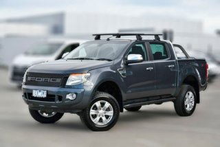 2015 Ford Ranger PX MkII XLT Double Cab Silver 6 Speed Manual Utility.