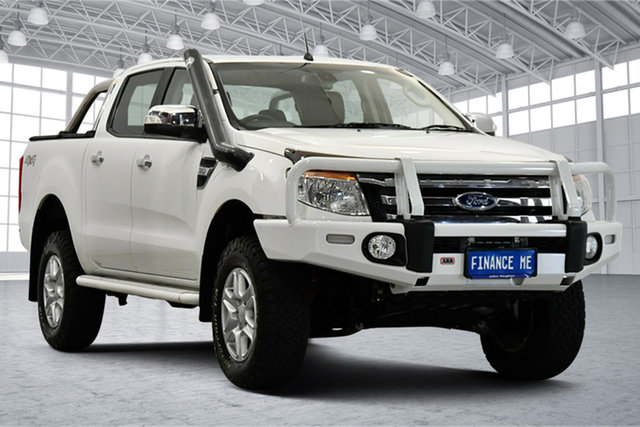 Used Ford Ranger PX XLT Double Cab Victoria Park, 2015 Ford Ranger PX XLT Double Cab Cool White 6 Speed Sports Automatic Utility