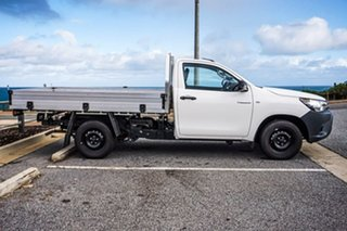 2019 Toyota Hilux TGN121R Workmate 4x2 White 6 Speed Sports Automatic Cab Chassis.