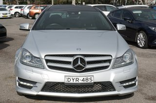 2013 Mercedes-Benz C-Class C204 MY13 C250 CDI 7G-Tronic Silver 7 Speed Sports Automatic Coupe.