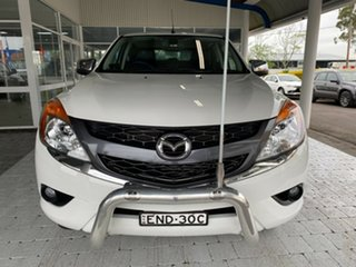 2012 Mazda BT-50 GT Cool White Sports Automatic Dual Cab Utility.