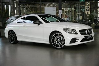 2019 Mercedes-Benz C-Class C205 800+050MY C200 9G-Tronic White 9 Speed Sports Automatic Coupe.