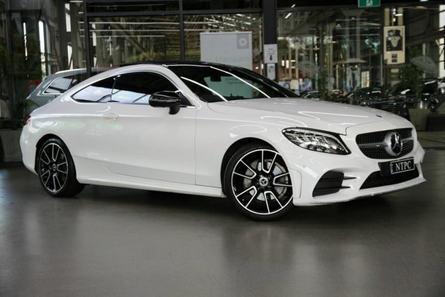 Used Mercedes-Benz C-Class C205 800+050MY C200 9G-Tronic North Melbourne, 2019 Mercedes-Benz C-Class C205 800+050MY C200 9G-Tronic White 9 Speed Sports Automatic Coupe