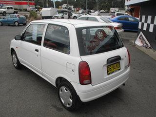 2001 Daihatsu Cuore White 5 Speed Manual Hatchback.