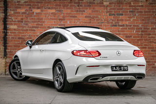 2016 Mercedes-Benz C-Class C205 C200 7G-Tronic + Polar White 7 Speed Sports Automatic Coupe