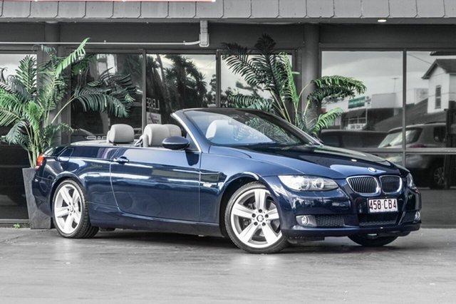Used BMW 3 Series E93 MY08 325i Steptronic Bowen Hills, 2008 BMW 3 Series E93 MY08 325i Steptronic Blue 6 Speed Sports Automatic Convertible
