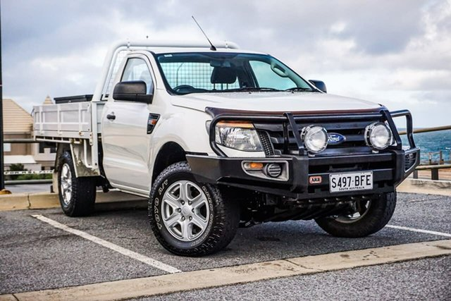 Used Ford Ranger PX XL Christies Beach, 2014 Ford Ranger PX XL White 6 Speed Sports Automatic Cab Chassis