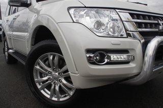 2016 Mitsubishi Pajero NX MY16 GLS Warm White 5 Speed Sports Automatic Wagon.