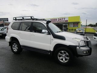 2006 Toyota Landcruiser Prado KZJ120R GXL White 4 Speed Automatic Wagon.