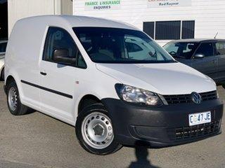 2010 Volkswagen Caddy 2KN MY11 TDI250 SWB DSG White 7 Speed Sports Automatic Dual Clutch Van.